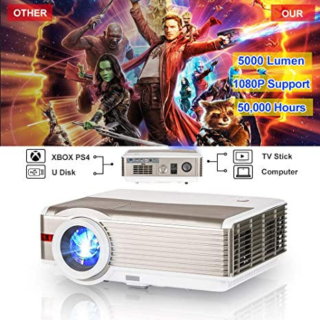 Amazon.com: 2019 HD LED LCD Home Theater Video Proyectores ...