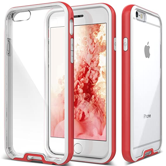 newest collection eb4b3 413d2 Caseology [Waterfall Series] Case for iPhone 6 / iPhone 6S - Slim Design  Scratch-Resistant Clearback Cover Dual Bumper - (Pink)