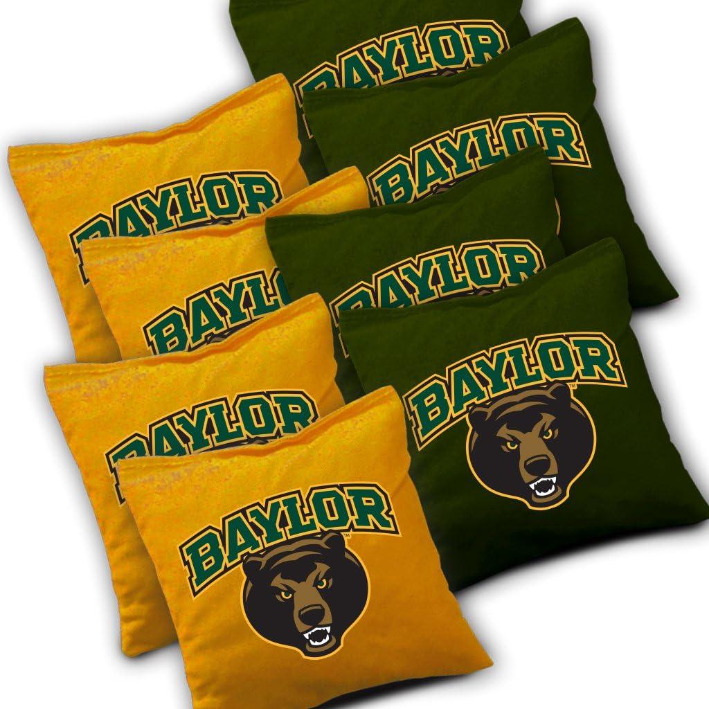 "8 ACA Regulation Bags BAYLOR BEARS /""Distressed/"" CORNHOLE WRAPS BOARD SET"
