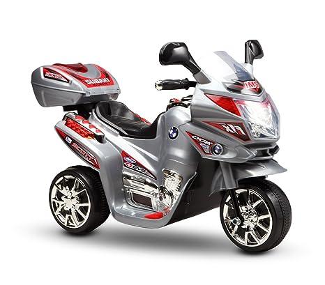 LT 810 Moto eléctrica niños VIP BMW tres ruedas 6V sonidos y luces realistas (Gris