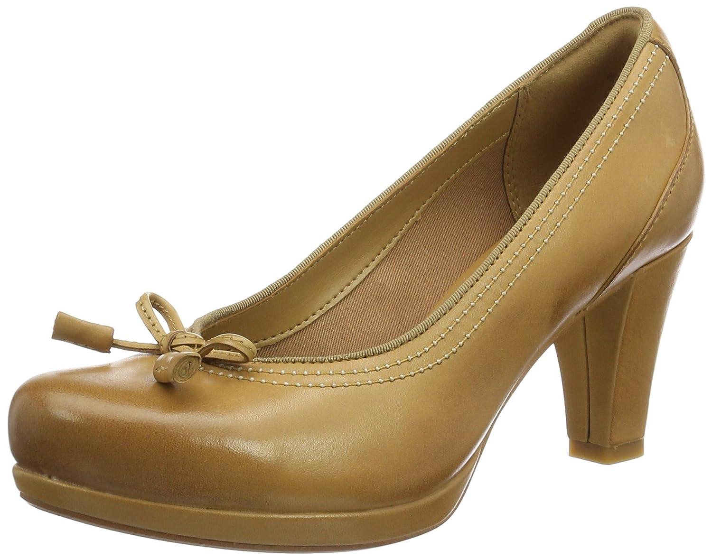 Clarks Chorus Bombay, Zapatos de Tacón para Mujer 37.5 EU|Marrón (Light Tan Lea)