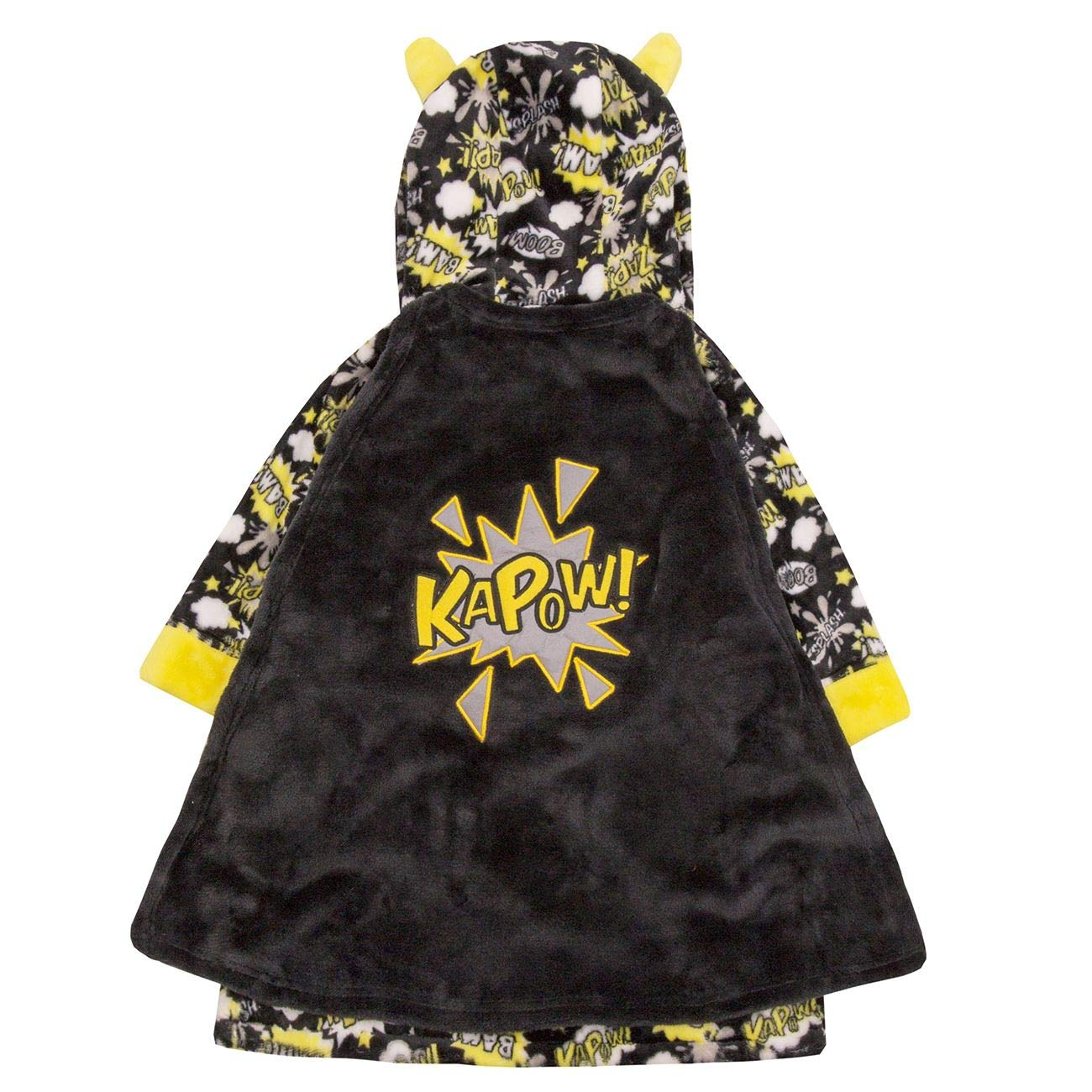 , Boys//Kids Soft Plush Fleece Dressing Gowns//Bathrobes Snuggle Cosy Warm Gift 2-13,