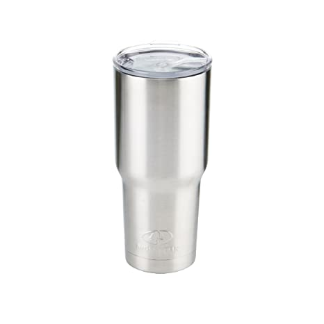 8a1370d1974 Amazon.com: Mossy Oak Double Wall Stainless Steel Insulated Tumbler, 30 oz,  Silver: Kitchen & Dining