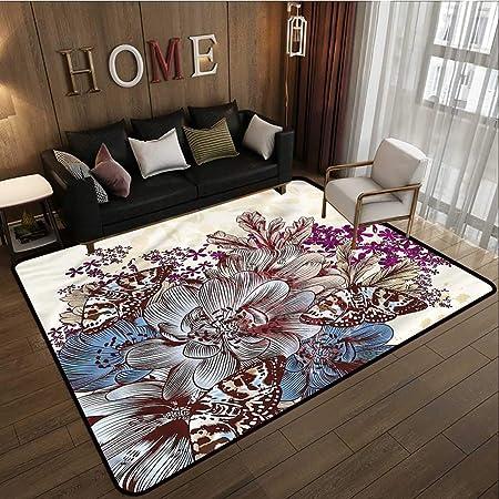 Alfombra para Interior/Exterior con diseño de Flores para jardín Victoriano: Amazon.es: Hogar