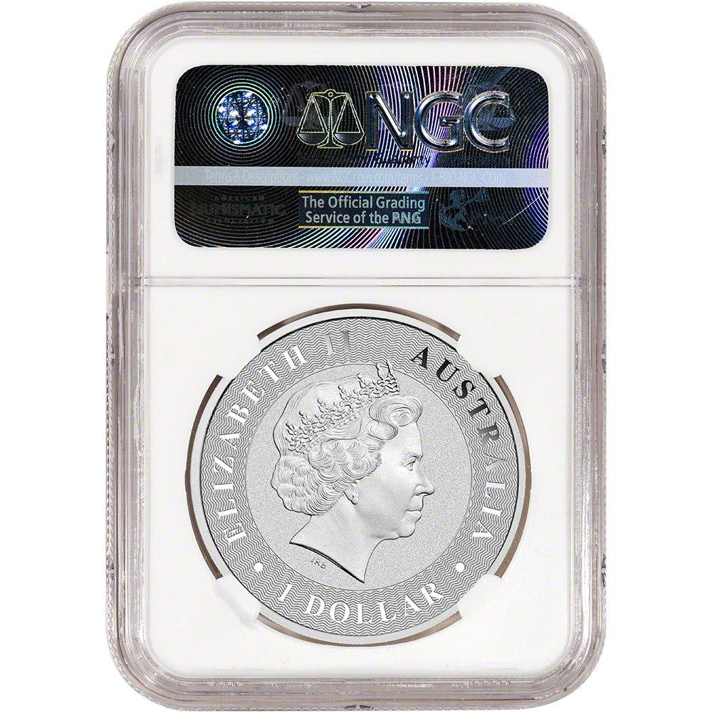 First Releases AU Retro 1 oz 2016-P Australia Silver Kangaroo $1 NGC MS70