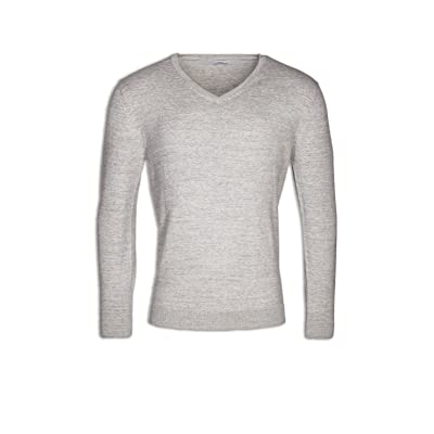 Next Camille Ex Mens Pure Cotton V-Neck Grey Jumper