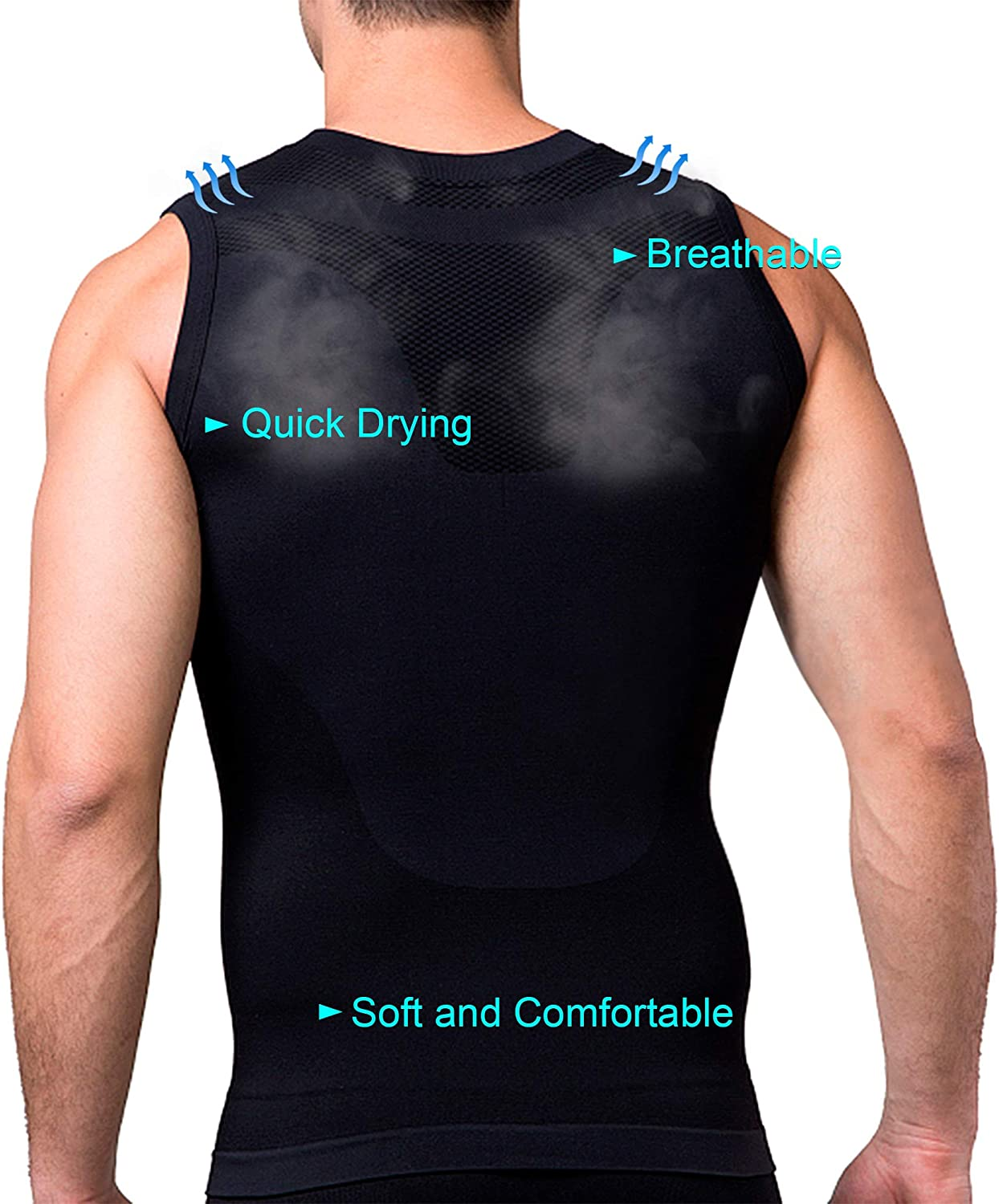 SodaCoda Mens Short Sleeve Compression Base Layer