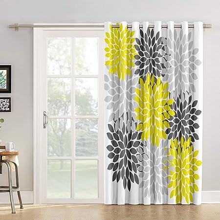 Cortinas opacas para ventana con diseño de cactus, manos libres, con diseño de flores de cactus,