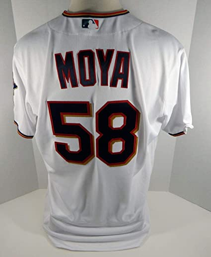 959a69be9 2017 Minnesota Twins Gabriel Moya #58 Game Issued White Jersey ...