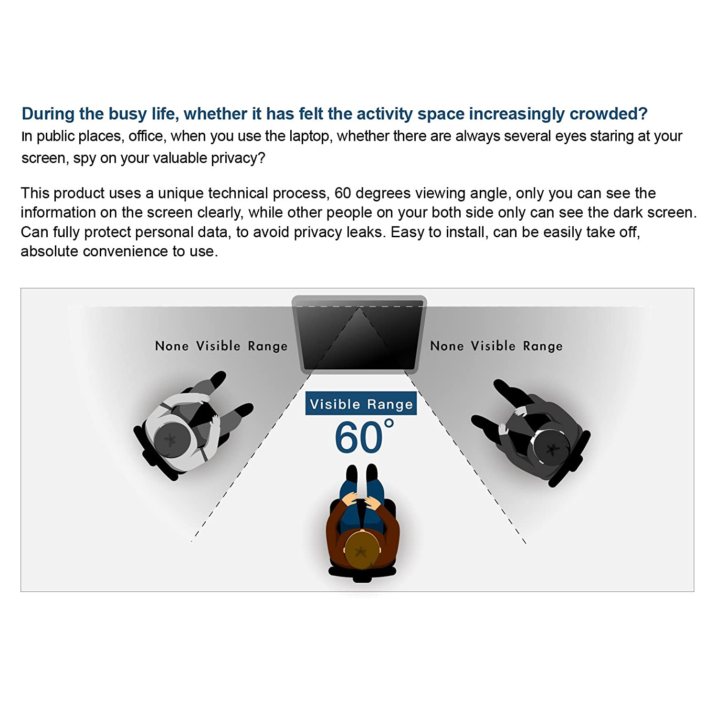Kaempfer anti luz filtro de privacidad protectores de pantalla para est/ándar Monitor