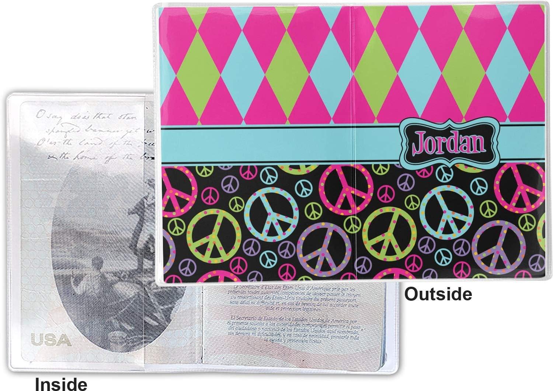 Personalized Peace Sign Vinyl Passport Holder