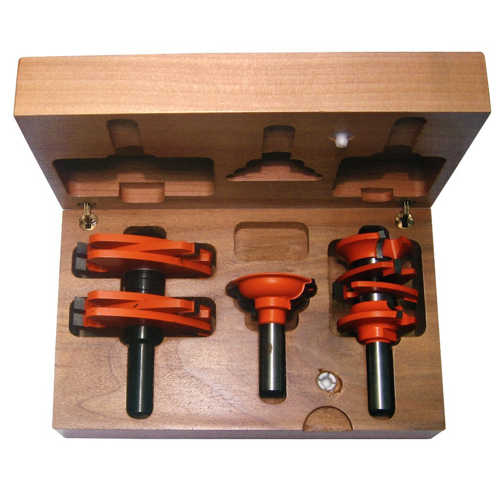 CMT 800.527.11 3-Piece Entry \u0026 Interior Door Router Bit Set in Hardwood Case 1/2-Inch Shank - Door And Window Router Bits - Amazon.com  sc 1 st  Amazon.com & CMT 800.527.11 3-Piece Entry \u0026 Interior Door Router Bit Set in ...