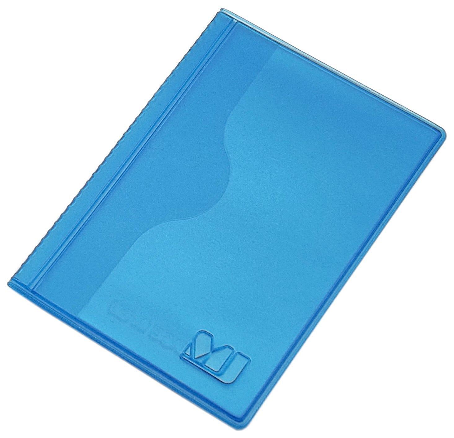 Kleines Kredit- und Visitenkartenetui 2 Fächer MJ-Design-Germany in verschiedenen trendigen Farben Made in EU (Blau)