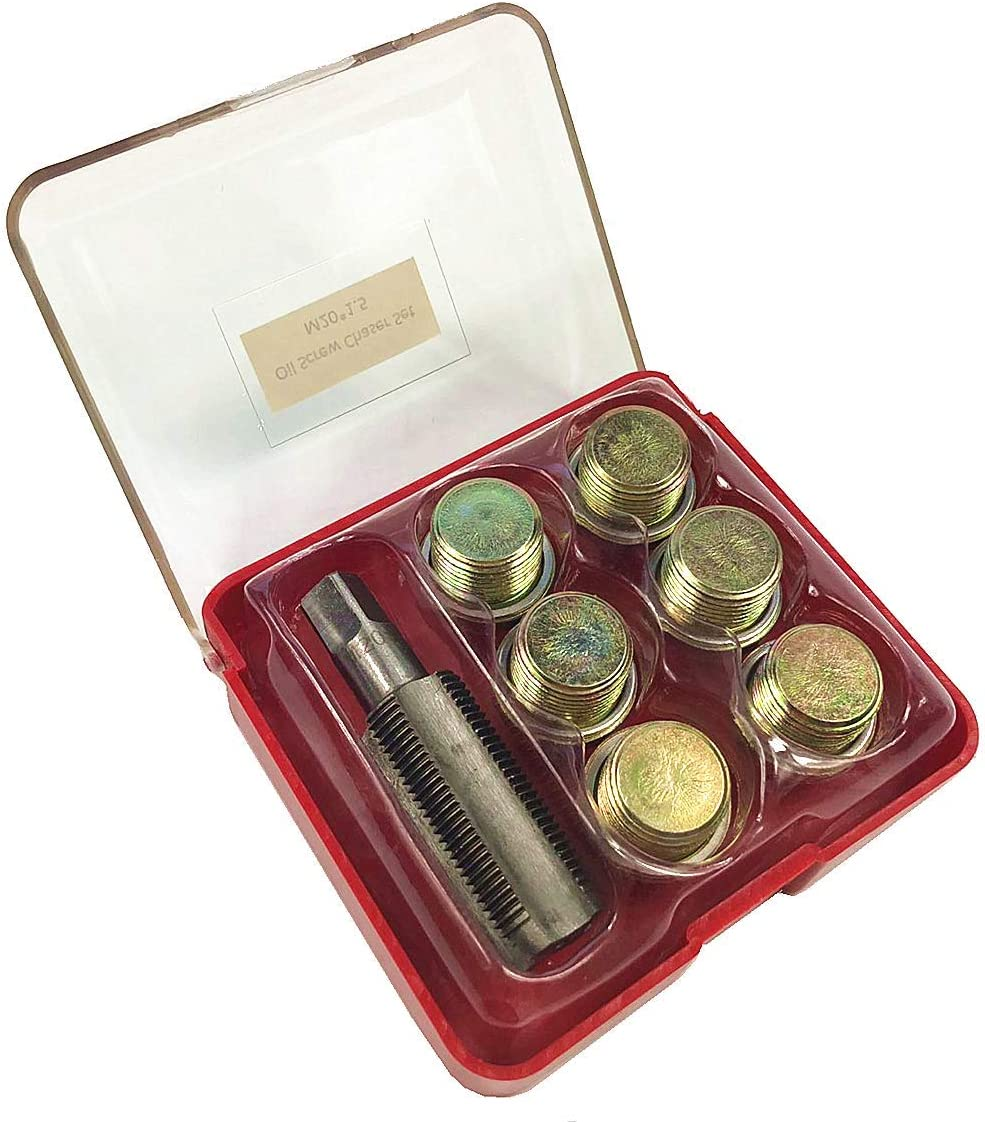 Best Q M20 x 1,5 mm Bouchon de vidange dhuile Kit de r/éparation de filetage pour po/êle /à huile Outil de refiletage