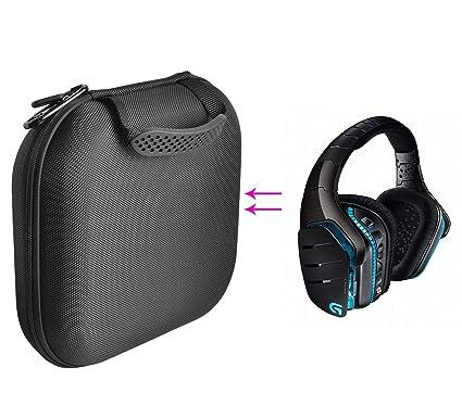 GH GHawk® Logitech G933 Estuche para Auriculares Estuche rígido de Viaje Bolsa de Transporte Protectora
