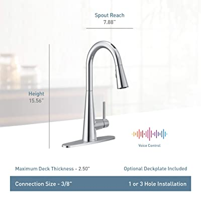 Buy Moen 7864evbls Sleek U By Moen Smart Pulldown Kitchen Faucet With Voice Control And Motionsense Black Stainless Online In Indonesia B083xdgfxc
