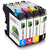JARBO 1 Set Compatible Ink Cartridges Replacement Brother LC203XL High Yield, Used in Brother MFC J480DW J680DW J880DW J460DW J485DW J885DW J5520DW J4320DW J4420DW J4620DW J5620 J5720DW Printer