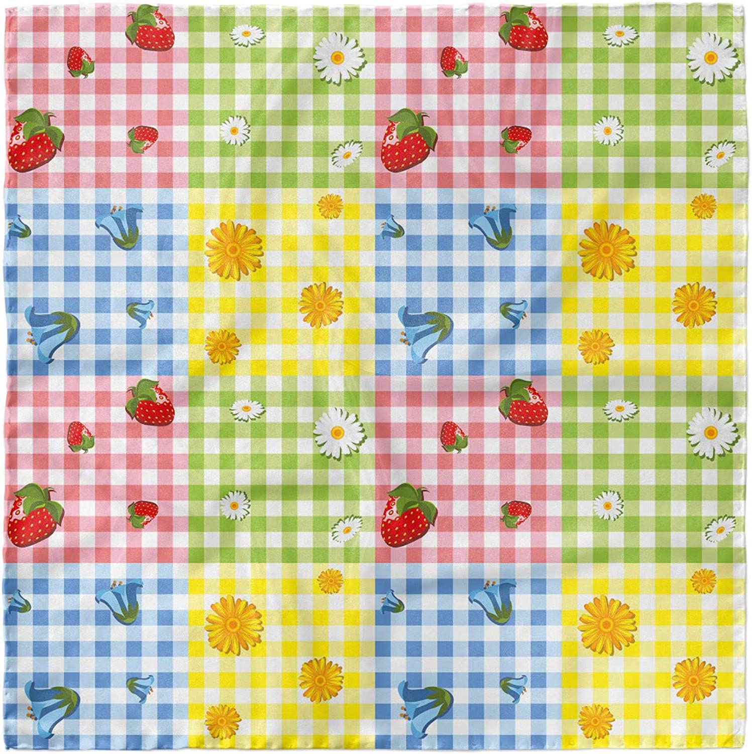 Berries Flowers Picnic Ambesonne Colorful Headscarf Hijab Scarf