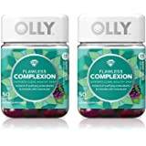 Olly Flawless Complexion Gummy Supplement, with antioxidants; Berry Fresh; 50 Count, 25 Day Supply (Packaging May Vary…