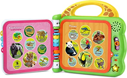 LeapFrog 100 Animals Book,Green Six double-sided