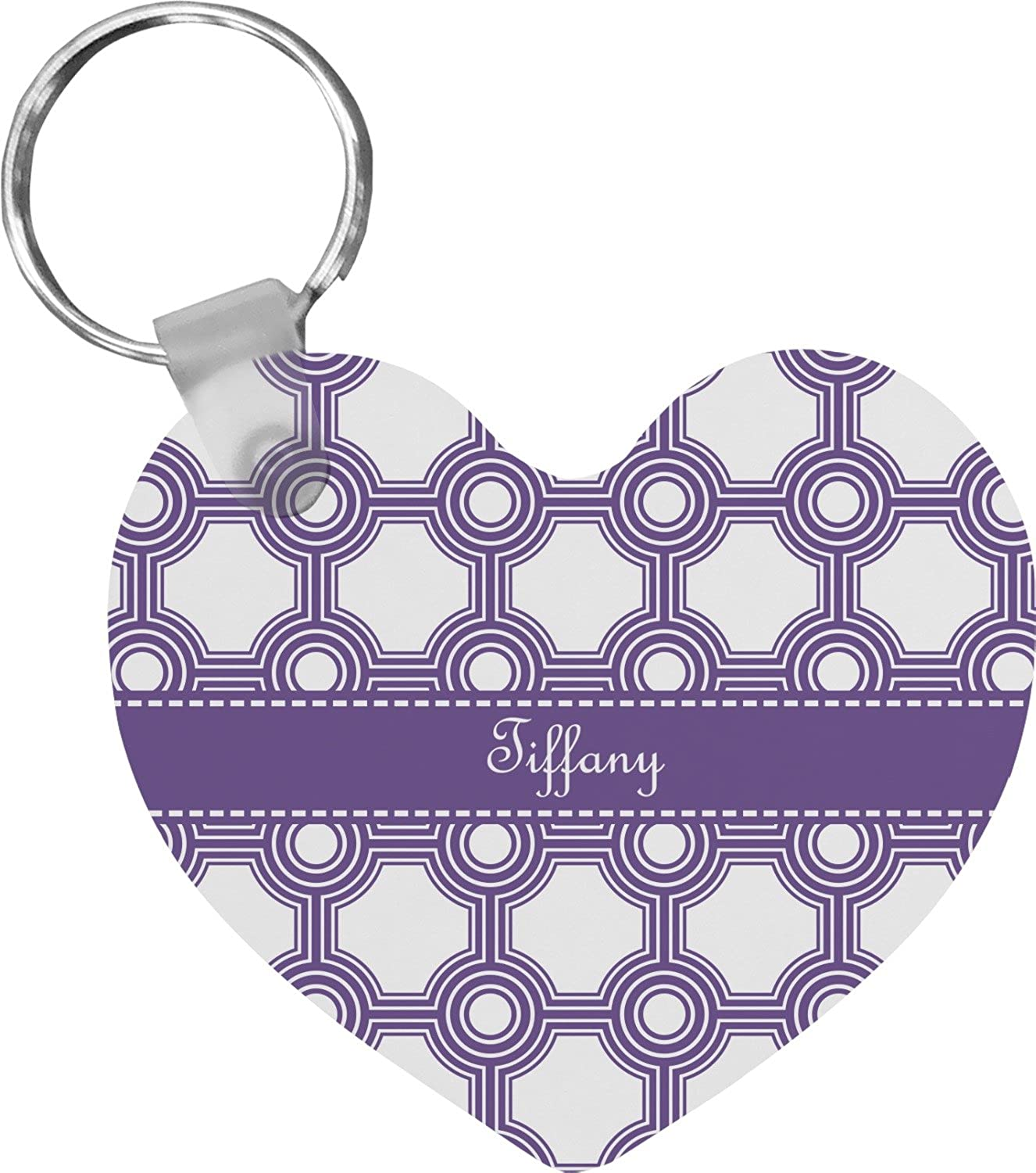 Connected Circles Heart Keychain (Personalized)