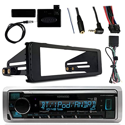 Kenwood Marine Radio Stereo Bluetooth Receiver Bundle, 1998 2013 Harley on