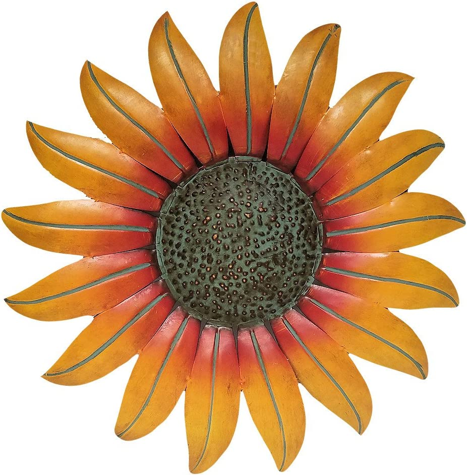 "Gifts & Decor Sunflower Decor Metal Wall Plaque (18"")"