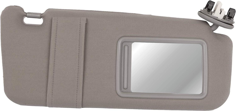 MOSTPLUS 74310-06770-B0 Gray Sun Visor Passenger Right Side for 2007-2011 Toyota Camry with Sunroof /& Light