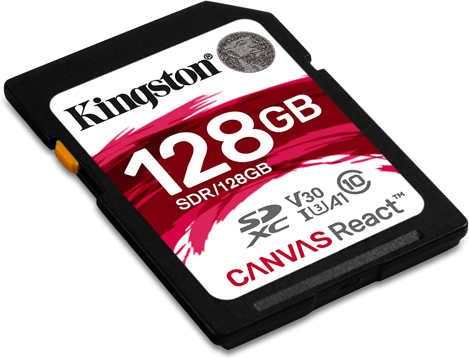 Kingston Canvas React 128GB SDXC Class 10 SD Memory Card UHS-I100MB/s R Flash Memory High Speed SD Card SDR/128GB