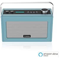 Century Smart Wi-Fi Speaker with Alexa Voice Control | Bluetooth | Internet Radio | Smart Home Control | Multi-Room | News and Sport updates (Stone Blue)
