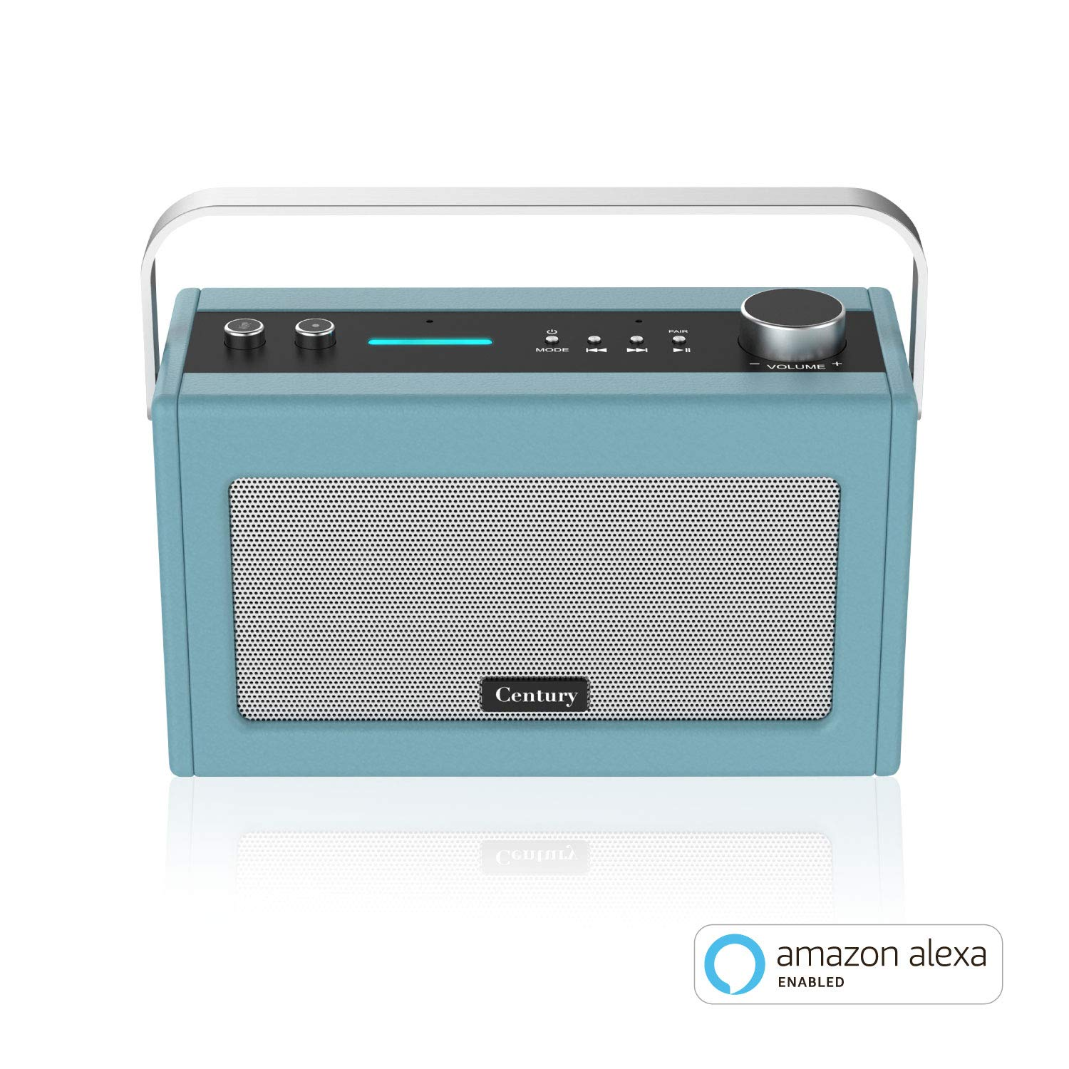 Century Internet Radio | Smart Wi-Fi Speaker with Alexa | Bluetooth | Smart Home Control | Multi-Room | News and Sport Updates (Stone Blue)