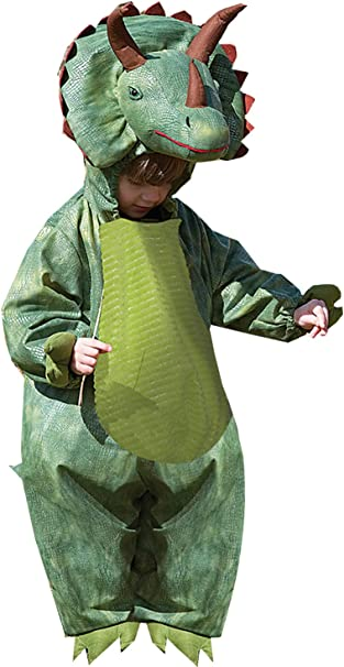TODDLER BOY GIRL KIDS T REX TRICERATOPS DINOSAUR FANCY DRESS COSTUME OUTFIT 2-3