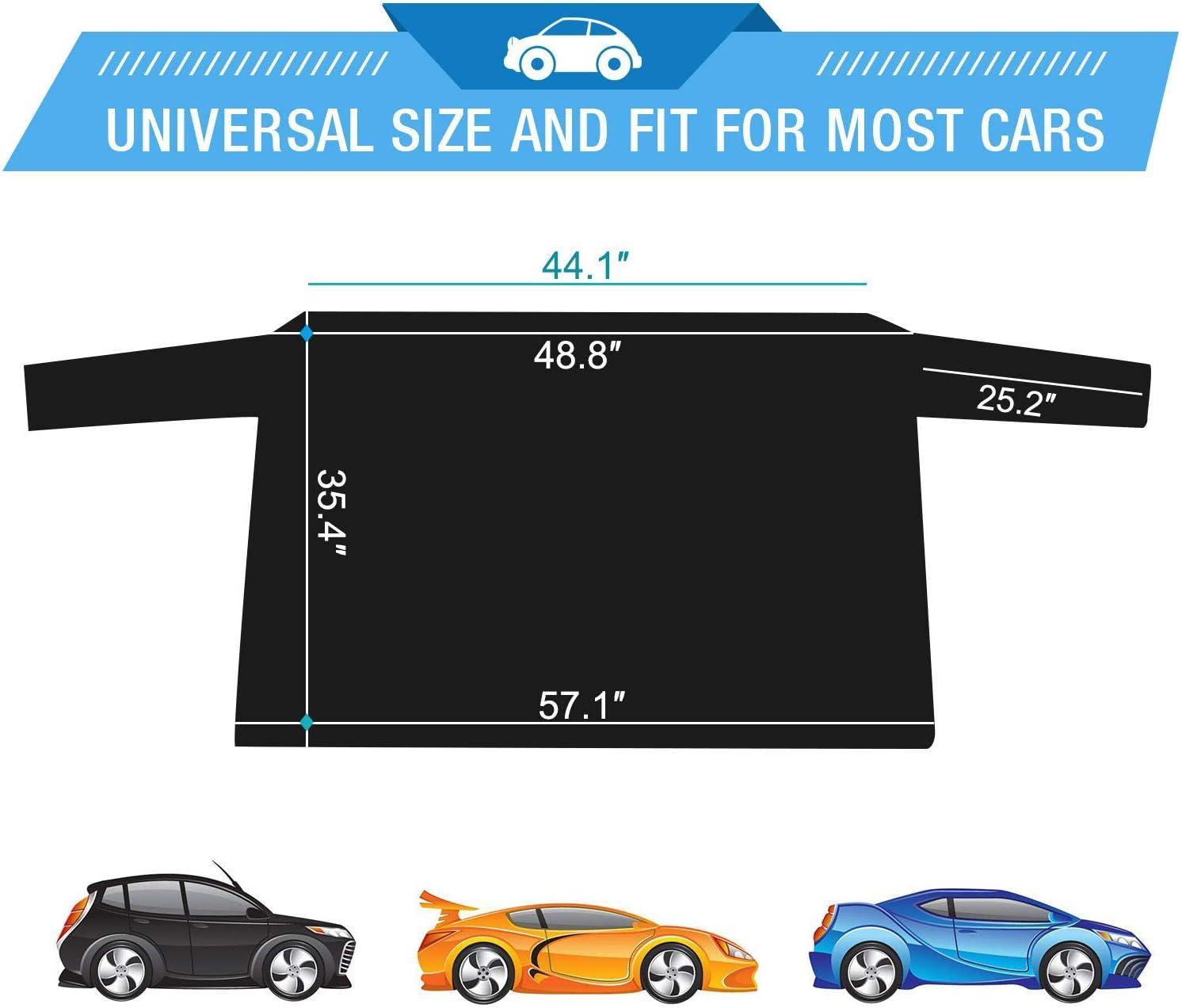 SUVs LKWs passend f/ür die meisten Autos Semoic Auto-Heckscheibenabdeckung mit Klappen und 4 Magneten Sonnenschutz f/ür die Au/ßenseite