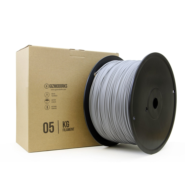 B074WKF32P Gizmo Dorks Hips Filament for 3D Printers 1.75mm 5kg, Gray 71jdkn3MwRL._SL1500_