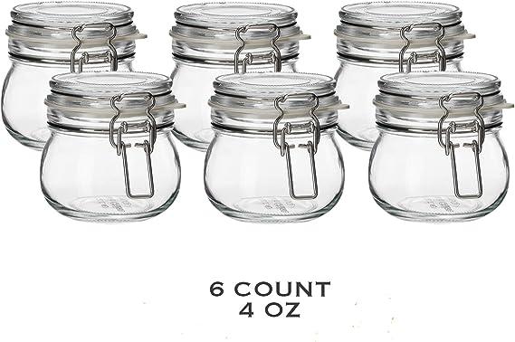 Amazon.com: IKEA tarro con tapa 6 paquetes), vidrio ...