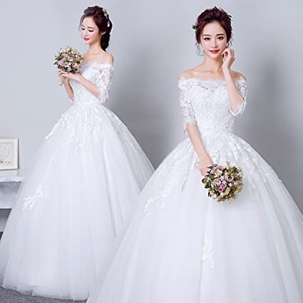 Novia Vestido de Novia Vestido de Novia Hermosa Princesa Vestido de Novia Vestido de Encaje Delgado