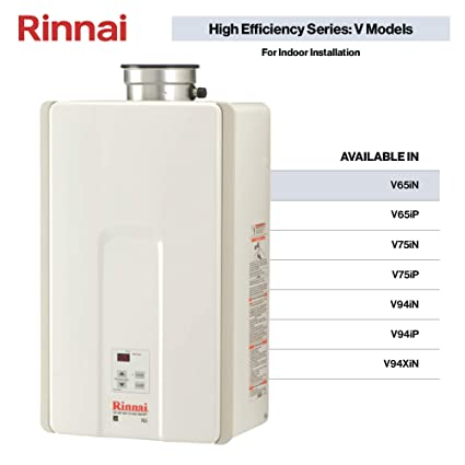 Rinnai V65IN 6 6 GPM Indoor Low NOx Tankless Natural Gas Water Heater