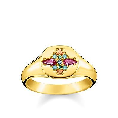 bague or avec pierres multicolores