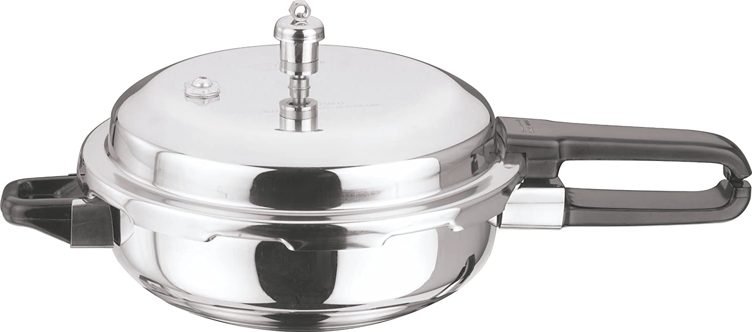 Vinod P-Jun Splendid Stainless Steel Sandwich Bottom Pressure Pan, Junior