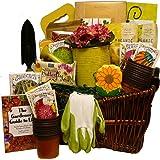 Gardening gift basket garden tote and tea for Gardening tools gift basket