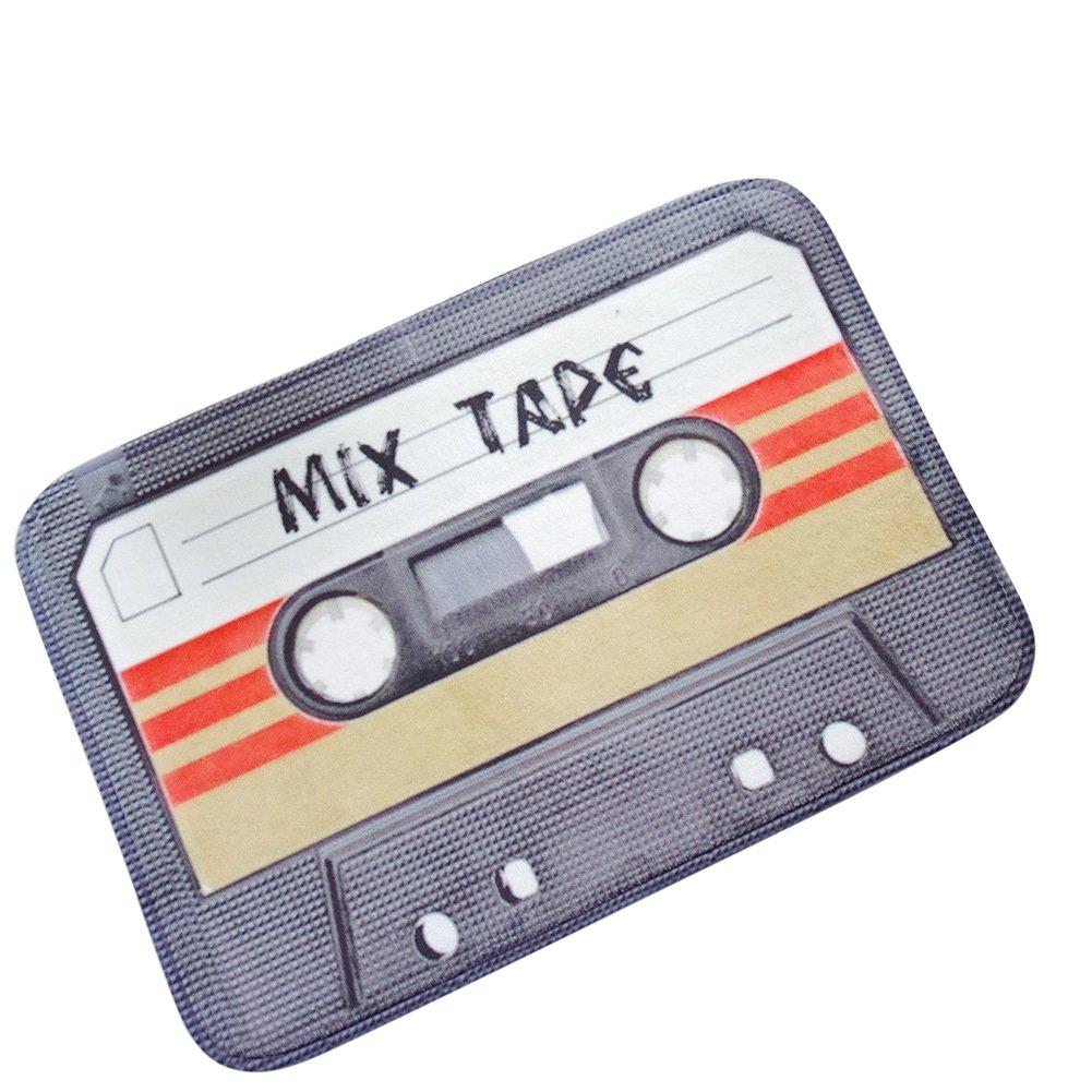 60 cm 40 Jaune LLQ Vintage Cassette Tape Paillasson dint/érieur ext/érieur Porte Avant Tapis dentr/ée Tapis antid/érapant pour Tapis