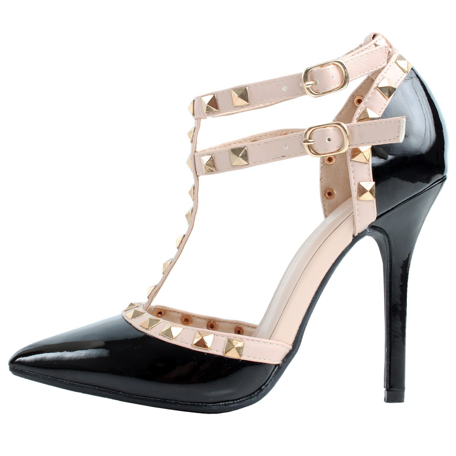 df43272be04 Amazon.com | Mermaid Women's Shoes Pointed Toe Spiked Ankle Strap ...