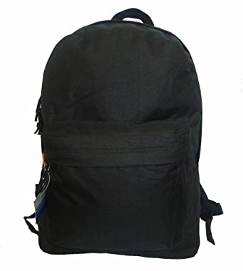 Classic Bookbag Basic Backpack Simple School Book Bag Casual Student Daily  Daypack 18 Inch with Curved 9c5d4a5e27b4f