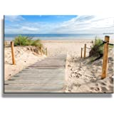 yixuanwall art -canvas Prints,Beach scenery Wall Art oil Paintings Printed Pictures Stretched for Home Decoration hs0012