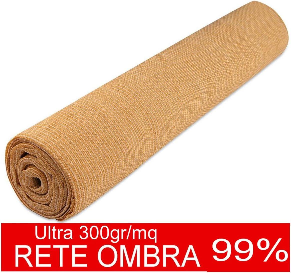 RETE OMBREGGIANTE 90/% TELO OMBRA FRANGIVENTO FRANGIVISTA VERDE H MT 4 x 20
