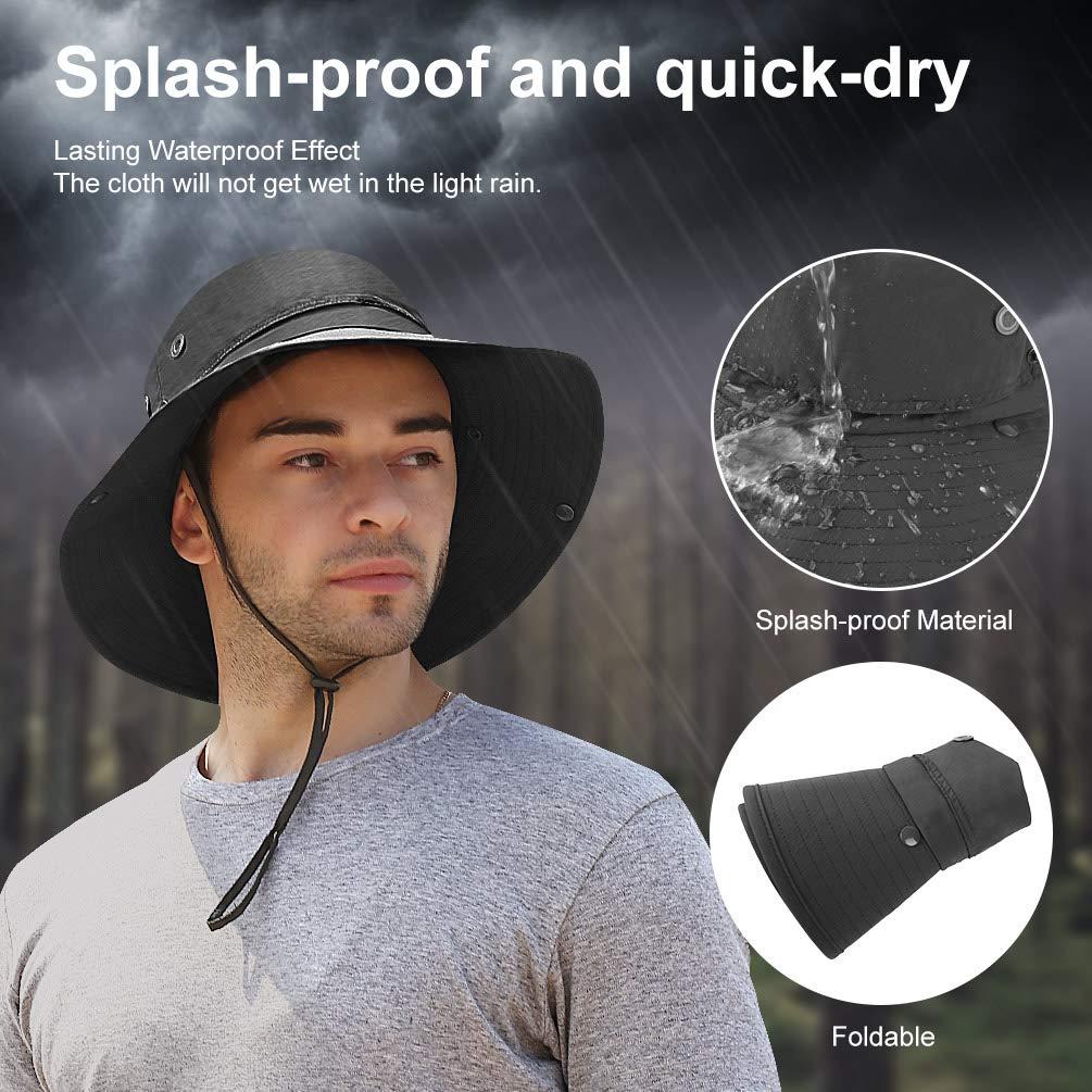 VBIGER Cappello da Pescatore Cappello per Il Sole (Grigio Scuro)