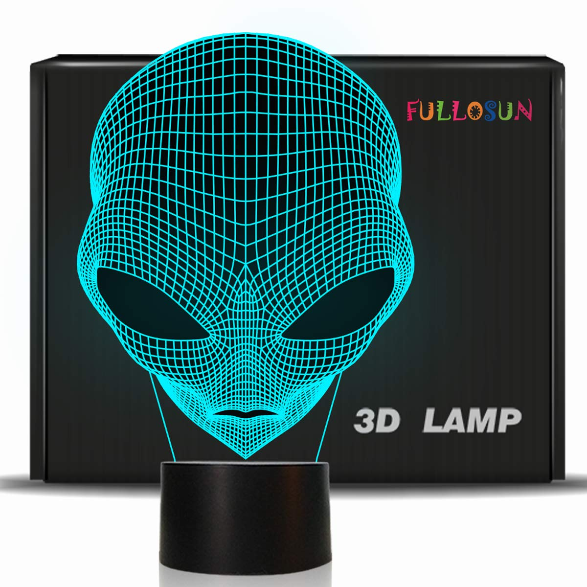 FULLOSUN 3D Baby Night Light Martian ET Projection LED Lamp Alien Nursery  Nightlight For Kids Room Home Decor Xmas Birthday Gifts With 7 Color  Changing ...