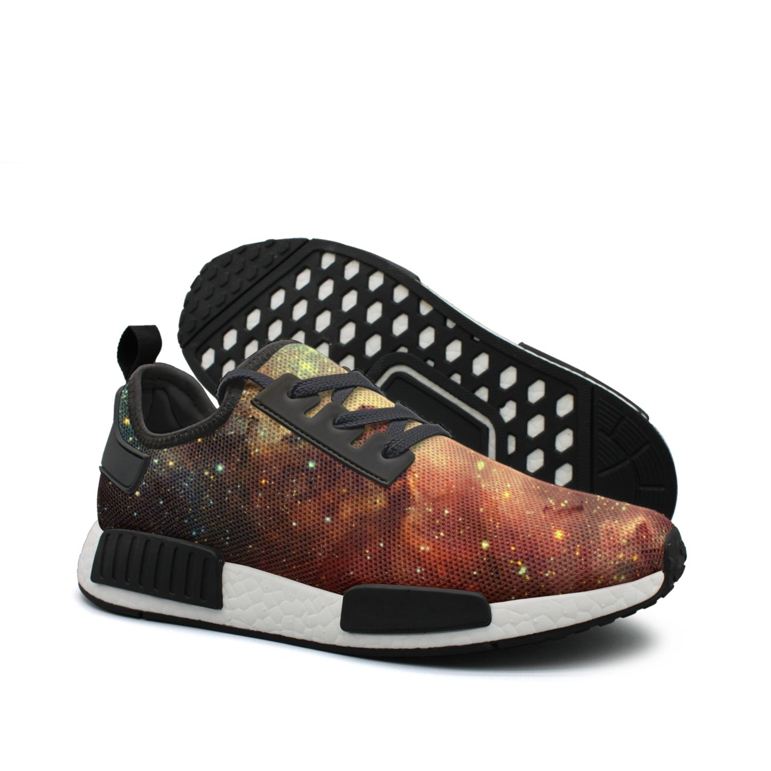 WhiteUnicorn Men's Beautiful Galaxy Stars Nebula Sneakers Casual Running Shoes Outdoor Trainers