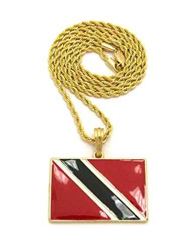 and gold in pendant tone tobago products chain bracelet flag link trinidad large