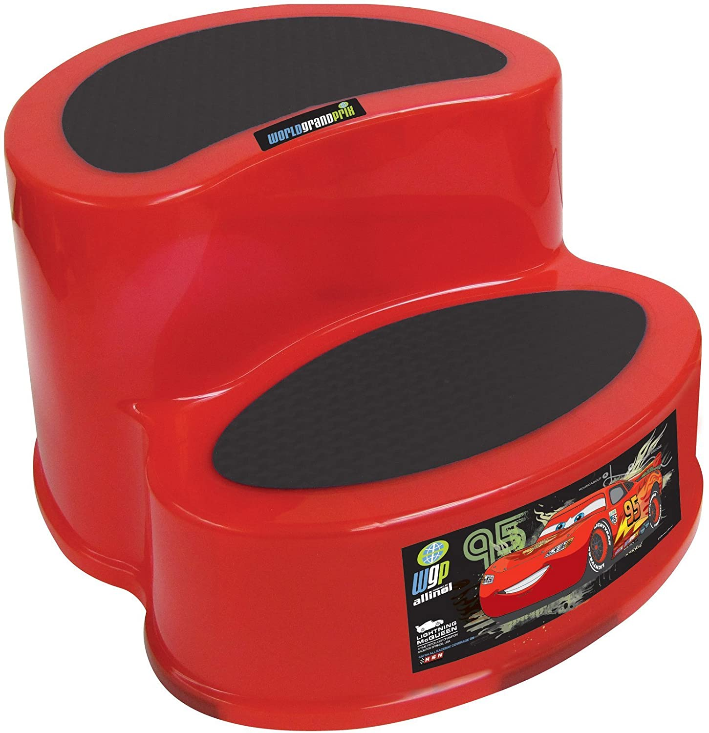 Disney Cars 2-Tier Step Stool, Red Ginsey 20702
